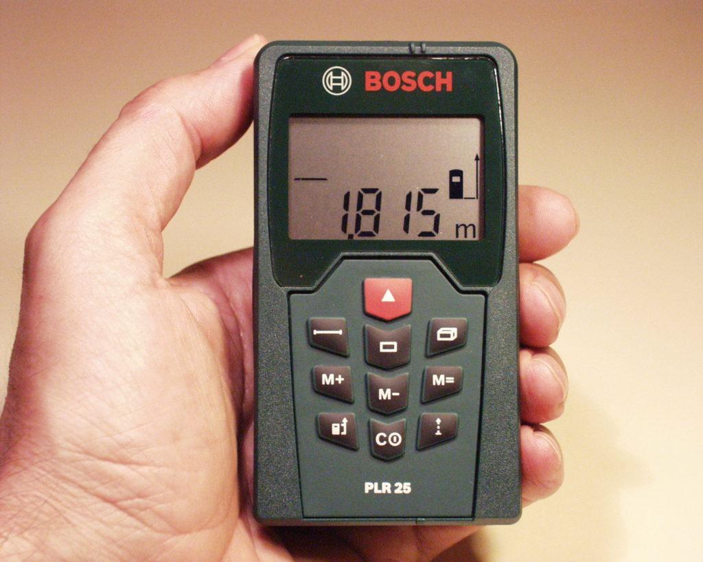 Entfernung messen und stiftdetektor mit laserpointer praktisches