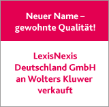 LexisNexis Deutschland GmbH an Wolters Kluwer verkauft